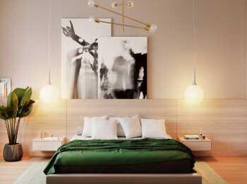 Оформление спальни в стиле «Сирокко» в ЖК Headliner